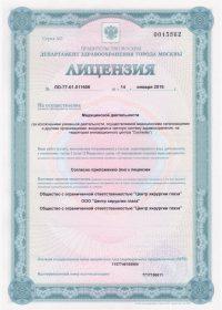 Лицензия: ЛО-77-01-011606 от 14 января 2016 г.